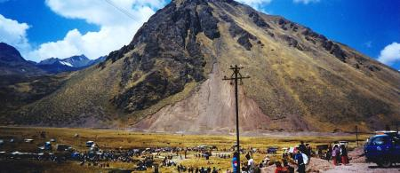 Market in the Andes