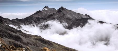 Vista al presente: Estado actual del glaciar del Pico Humboldt. © José Manuel Romero. p.22 de la publicación.